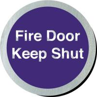 Fire door keep shut metallic door disc 3