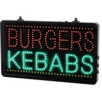 Led burgers kebabs sign 13x22x1 6