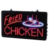 Led fried chicken sign 13x22x1 6