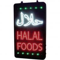 Led halal foods sign 13x22x1 6