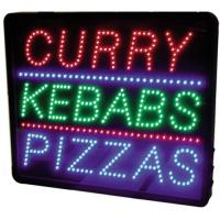 Led curry kebabs pizza sign 20 5x17 3x1 6