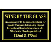 Wine by the glass 125m 175ml 4 3x7