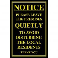Please leave quietly notice 10x7