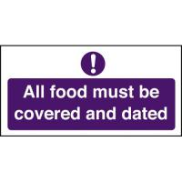 All food must be covered dated sign 4x8