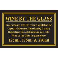 Wine by the glass 125ml 175ml 250ml 4 3x7