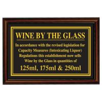 Framed wine by the glass 125ml 175ml 250ml 5 5x8