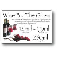 Wine by the glass 125ml 175ml 250ml white 4 3x7