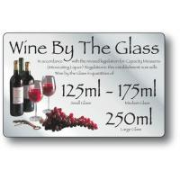 Wine by the glass 125ml 175ml 250ml silver 210x140mm