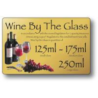 Wine by the glass 125ml 175ml 250ml gold 4 3x7