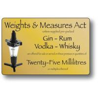 Weights measures act 25ml gold 4 3x7