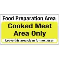 Food preparation cooked meat area only 4x8