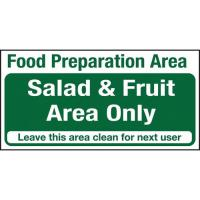 Food preparation salad fruit area only 4x8