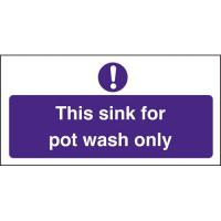 This sink for pot wash only 4x8