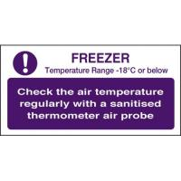 Freezer check temperature 4x8