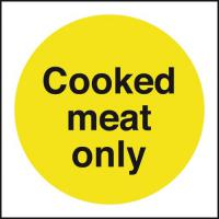 Cooked meat only sign 4x4
