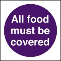 All food must be covered 4x4