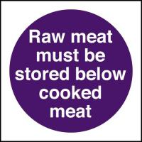 Raw meat must be stored below cooked meat 4x4