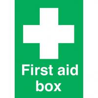 First aid box sticker 6x4