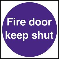 Fire door keep shut sign 4x4