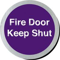 Fire door keep shut sign 3 diameter