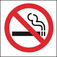 No smoking window sticker 4x6
