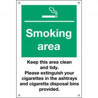 Smoking area sign 12x8