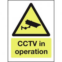 Cctv in operation sign 8x12