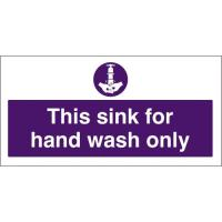 For hand wash only sign 4x8