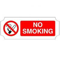 No smoking signs 8x3