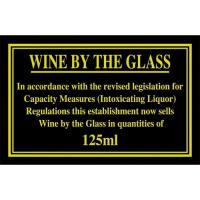 Wine by the glass sign 4x7