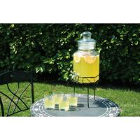 Glass drink dispenser with stand 3 5l 123oz