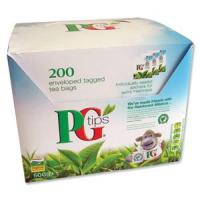 Pg tips envelope tagged tea bags