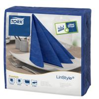 Linstyle dark blue dinner napkin 39cm square 4 fold 1 ply