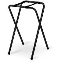 Black metal folding tray stand double bar 48x40 5x79cm