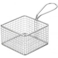Creative table square wire service basket 9 25cm 3 75