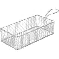 Creative table rectangular wire service basket 26x13cm 10 25x5