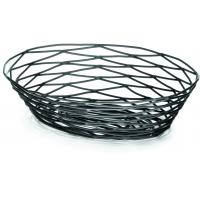 Artisan black oval basket 23x16x7 5cm