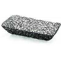 Boucle black rectangular basket 20x11 5x14cm