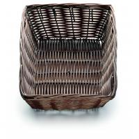 Handwoven rectangular basket brown