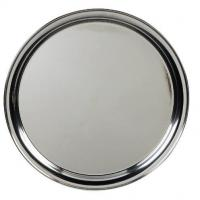 Genware stainless steel round tray 14