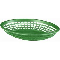 Jumbo oval plastic basket 30x22 5x4 75cm forest green