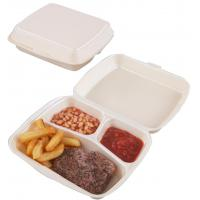 9 75x7 75x3 3 compartment white eps meal box