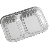 Two compartment foil container 203x133x30mm