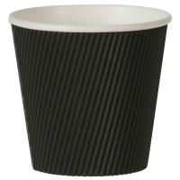 19oz large ripple pot black