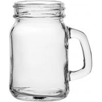 Tennessee mini handled jam jar glass 13 5cl 4 75oz jeremiah weed style