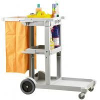 Compact cleaning trolley 98 h x49 w x142 d cm