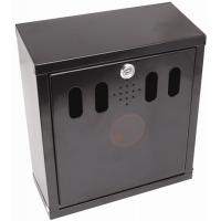 Oblong ashtray wall mounted black 26x28x16cm 10 25x11x6 25