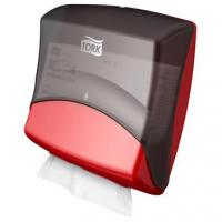 Tork folded wiper cloth dispenser red smoke