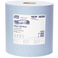Tork wiping paper plus 2 ply blue