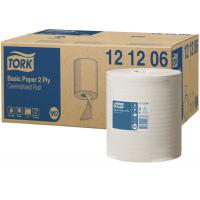 Tork basic paper centrefeed roll 2 ply white